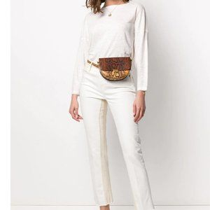 FRAME Denim Long Sleeve Organic Linen Blouse XXS